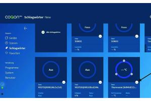 Bildschirmdarstellung der Geräteauswahl.