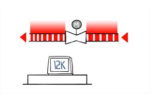 Schematische Darstellung der Einrohrheizung mit erhöhtem Volumenstrom.